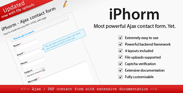 iPhorm - Simple yet Powerful Ajax contact form - CodeCanyon Item for Sale