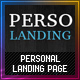 Personal landing page WP single page theme - ThemeForest Item for Sale