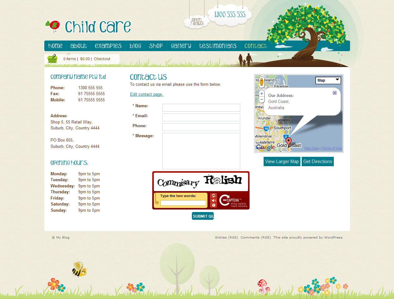 Child Care Creative - WordPress Shop & Newsletter
