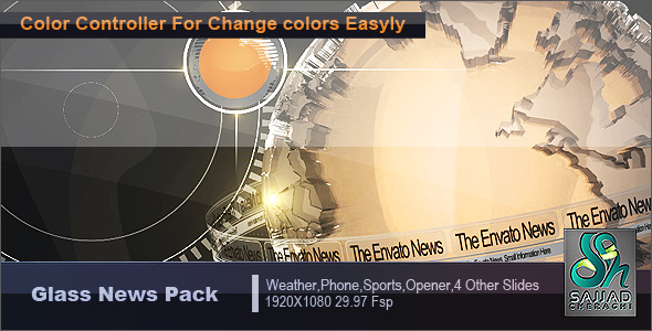After Effects Project - VideoHive Glass News Pack 1318726
