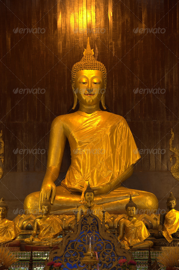 Golden Buddha Statue At Doi Suthep Temple - Stock Photo - Images