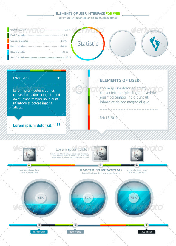 GraphicRiver Elements of User Interface for Web 1321756