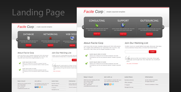 Facile Corp - Clean and Professional Landing Page