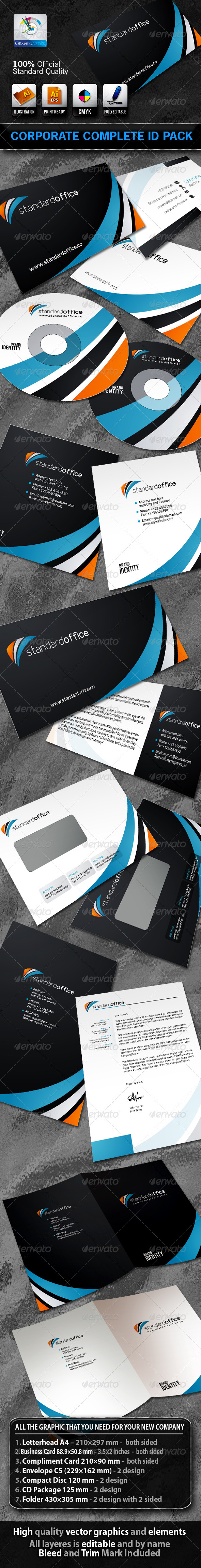 StandardOffice Business Corporate ID Pack + Logo - Stationery Print Templates