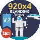 920x4 Blanding Flat Icons-Graphicriver中文最全的素材分享平台
