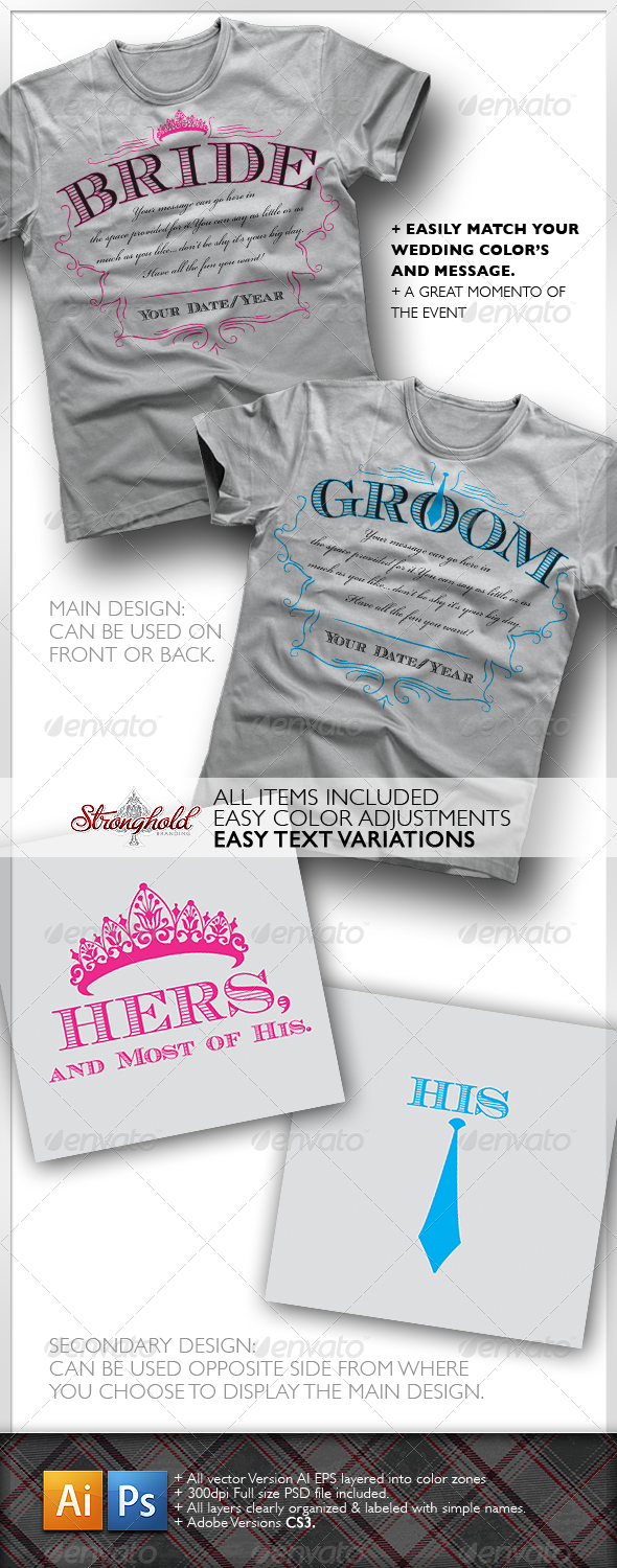Bride & Groom T-Shirt - Events T-Shirts