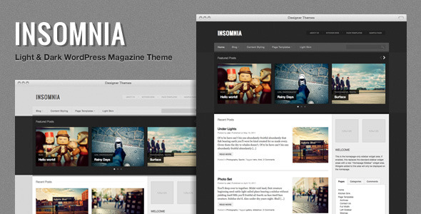 Insomnia, a Customizable Magazine WordPress Theme