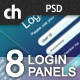 8 Modern &amp;amp; Web 2.0 Login/Signup Panels - GraphicRiver Item for Sale