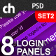8 Modern &amp;amp; Web 2.0 Login/Signup Panels (SET 2) - GraphicRiver Item for Sale