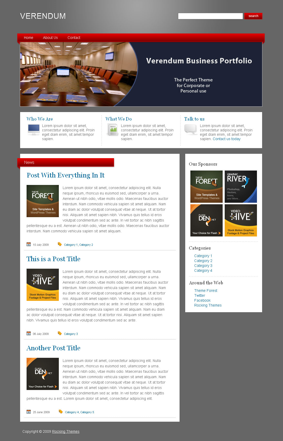 Verendum HTML Business Portfolio - Verendum HTML Business Theme - Home Page