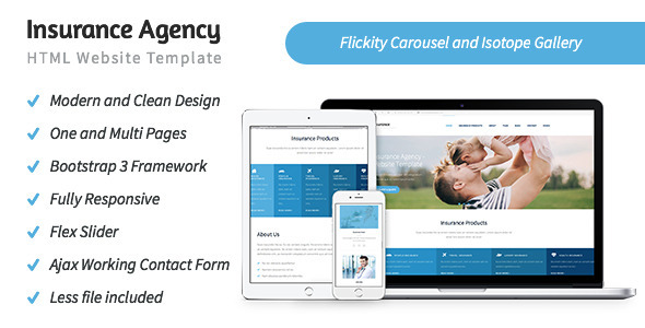 Insurance Agency - HTML5 Website Template by rayoflightt | ThemeForest