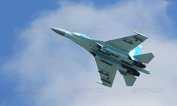 Su-27 jet fighter - Stock Photo - Images