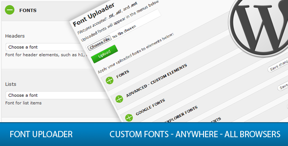 Font Uploader - CodeCanyon Item for Sale