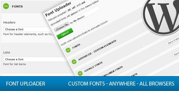 Font Uploader - CodeCanyon Item for Sale