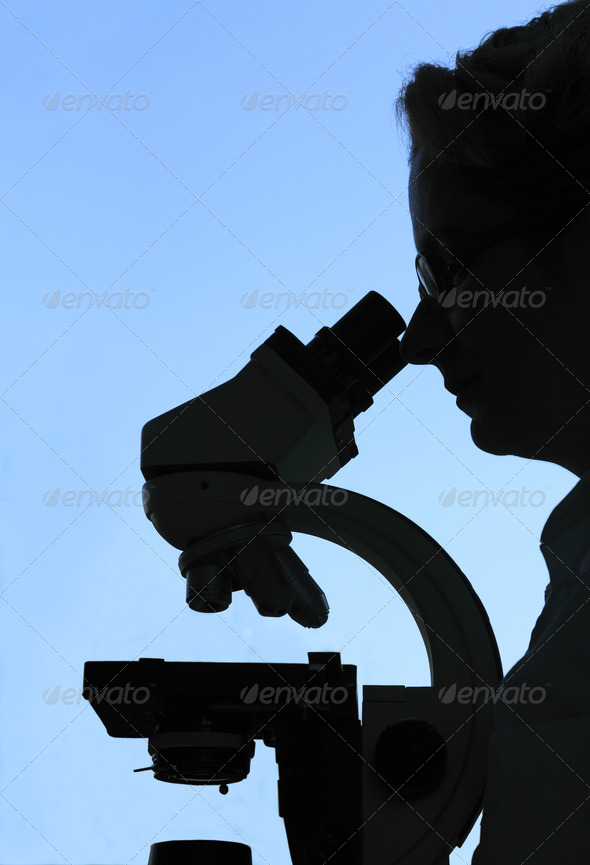 Research Silhouette - Stock Photo - Images