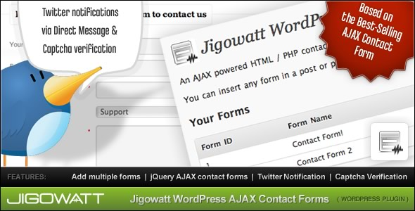 CodeCanyon AJAX Contact Forms for WordPress 129211