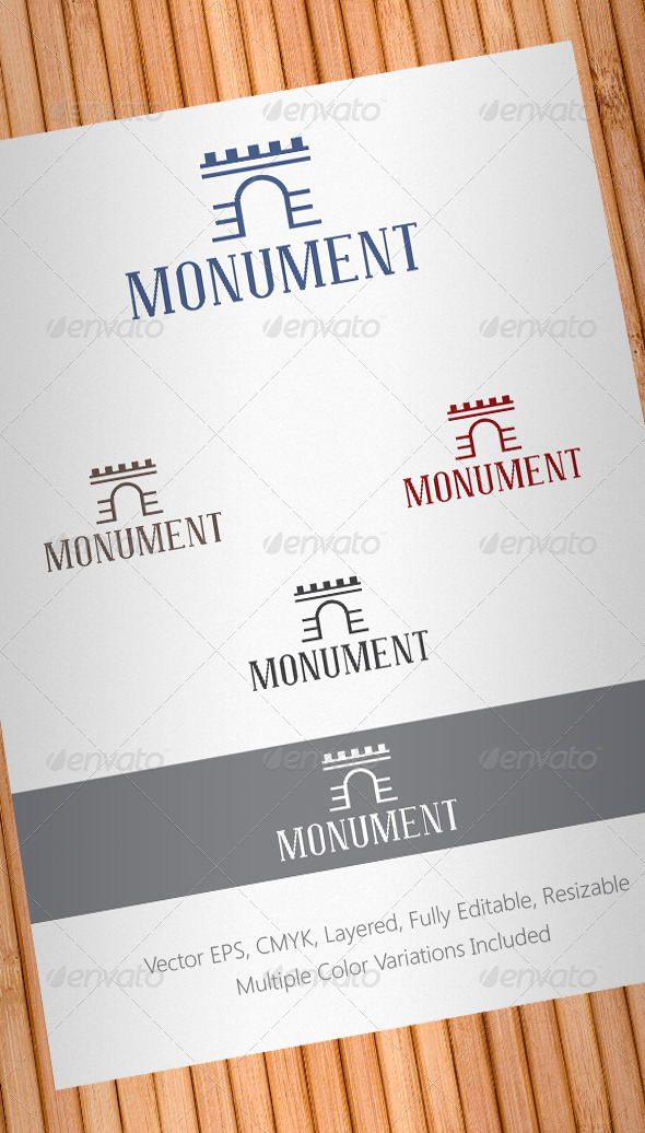 Monument Logo Template - Buildings Logo Templates