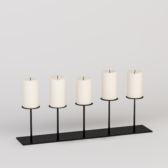 Decorative Candleholder - 3DOcean Item for Sale
