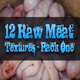 12 Raw Meat Textures - Pack One  - GraphicRiver Item for Sale
