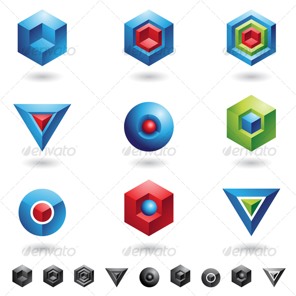 GraphicRiver 3D cubes and triangles 52777