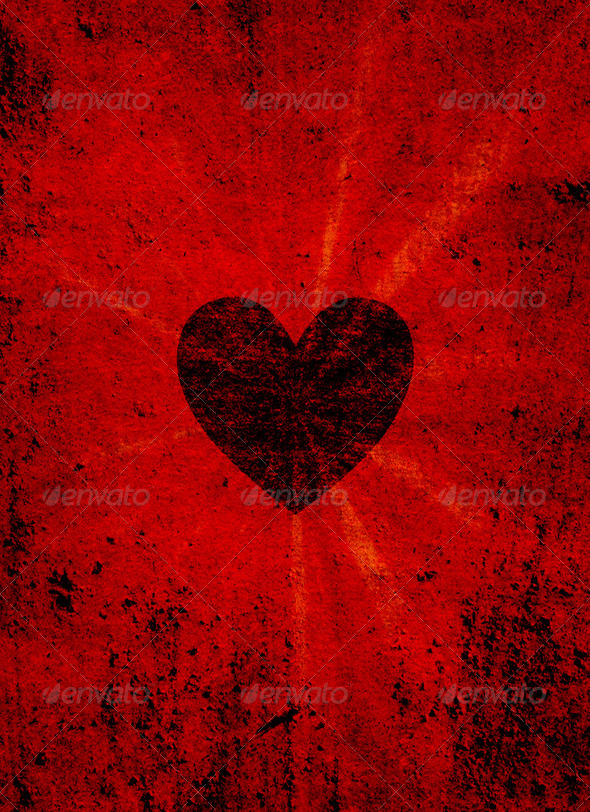 Black valentine heart - Stock Photo - Images