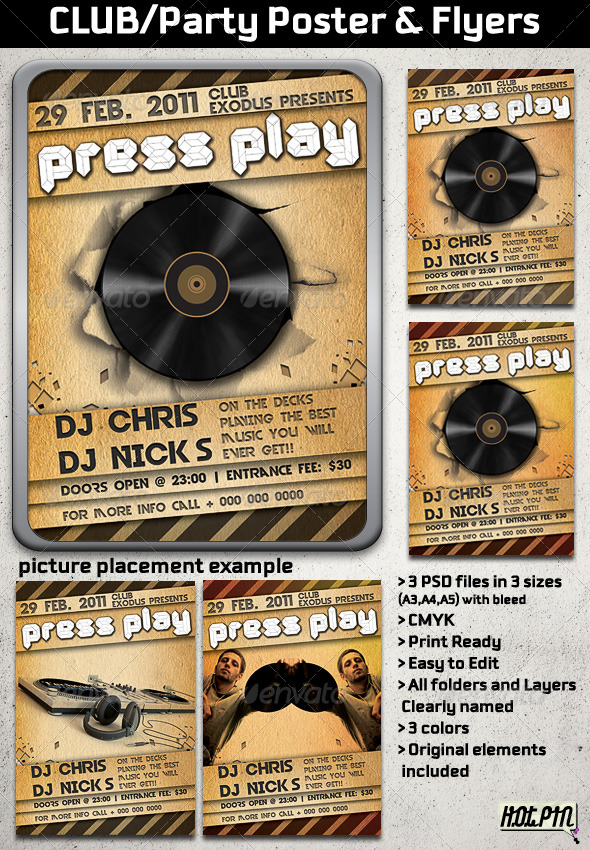GraphicRiver Party Club Concert Flyer and Poster 159145