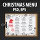 Christmas Menu Restaurant-Graphicriver中文最全的素材分享平台