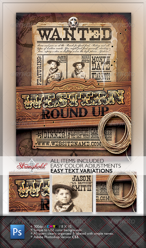 GraphicRiver Wild West Event Flyer 1317892