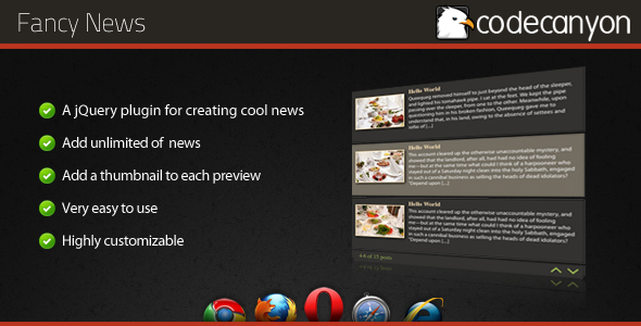 CodeCanyon Fancy News jQuery plugin 159839