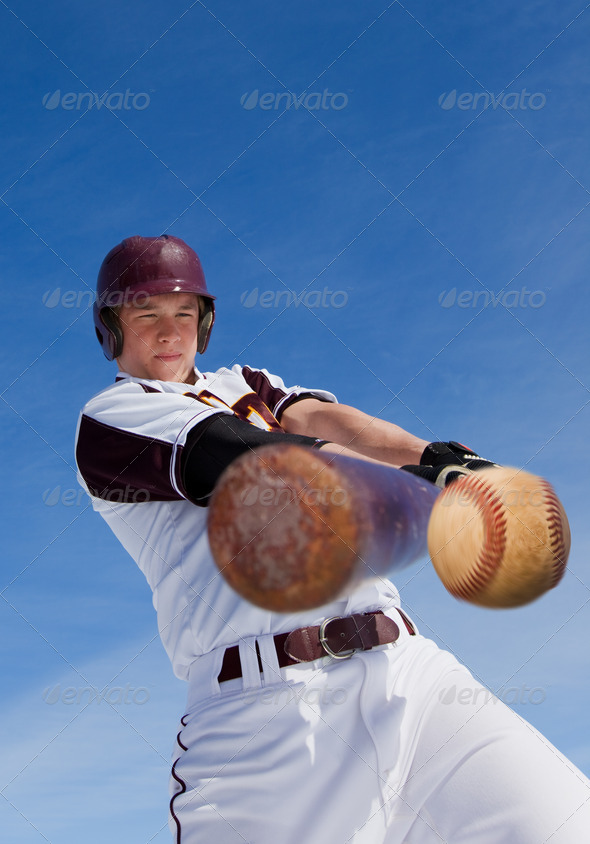 PhotoDune Baseball hit 1336526