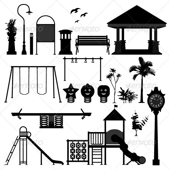 banco de jardim vetor:Garden Park Playground Equipment