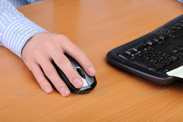 young business man working in an office - Stock Photo - Images