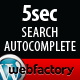 5sec Search Autocomplete - CodeCanyon Item for Sale