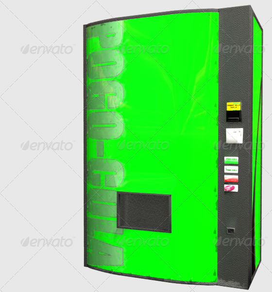 3DOcean Low Poly Soda Machine 160228