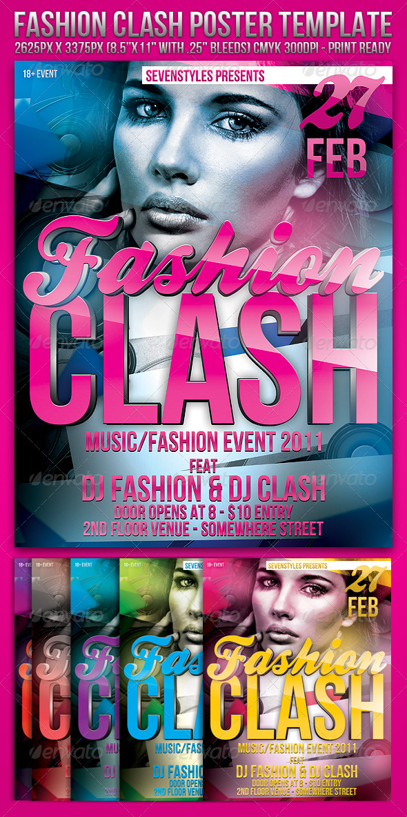 Fashion Clash Template - Clubs & Parties Events