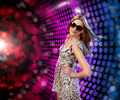young woman dancing at disco - PhotoDune Item for Sale
