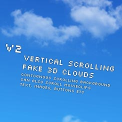 Vertical contignous scrolling clouds - ActiveDen Item for Sale