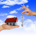 House in the hands against the blue sky - PhotoDune Item for Sale