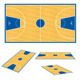 Basketball court floor plan. - GraphicRiver Item for Sale