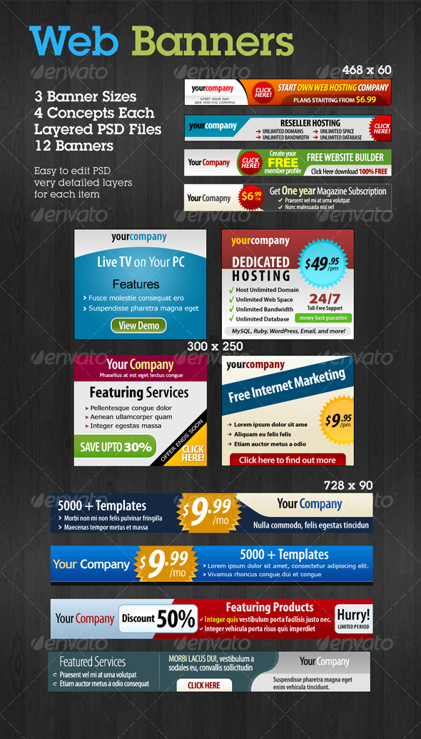 Web Banners Set 2 - Web Elements