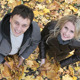 Couple throwing leaves - VideoHive Item for Sale