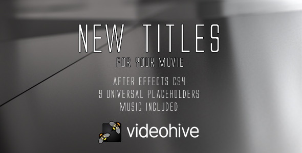 After Effects Project - VideoHive New titles 160643