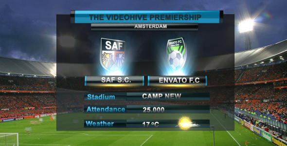 After Effects Project - VideoHive On Air Graphics Soccer 161444