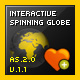 Interactive Spinning Globe Animation - ActiveDen Item for Sale