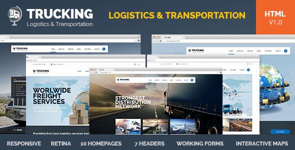 Trucking Transportation Amp Logistics Html Template By Pixel