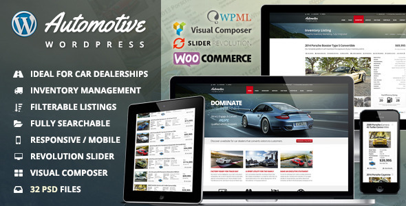 Automotive Car Dealership Business Wordpress Theme By
