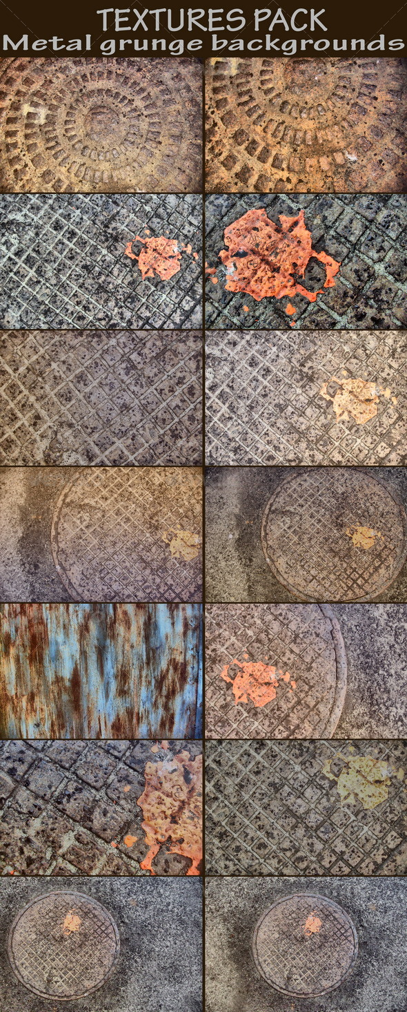 Metal grunge backgrounds - Industrial / Grunge Textures
