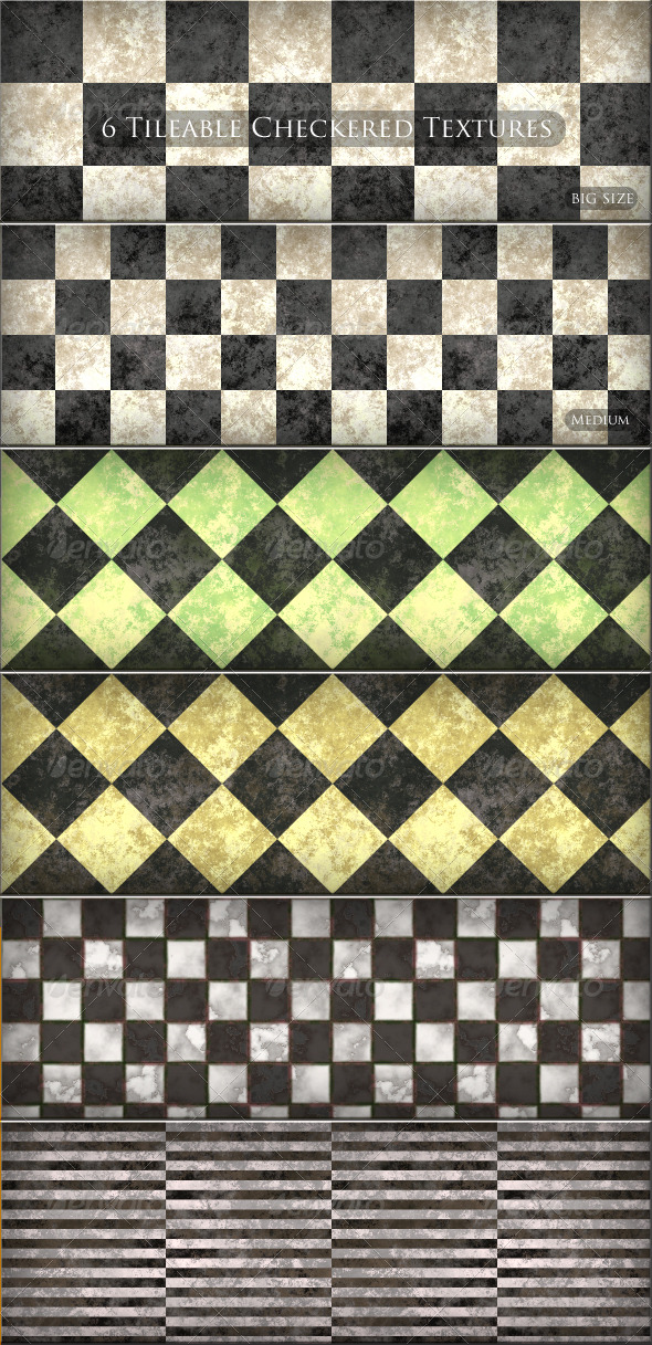 GraphicRiver 6 Tileable Checkered Textures Patterns 161551