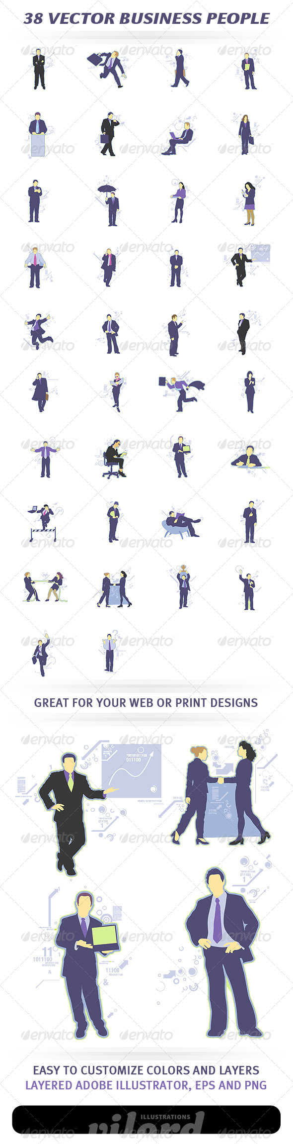 GraphicRiver 38 Vector Business People 1356001