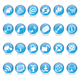 blue glass web icons - GraphicRiver Item for Sale